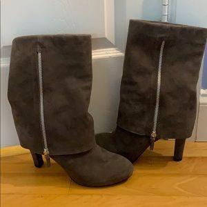 Grey Suede Franco Sarto Boots